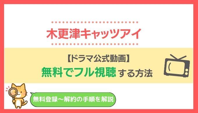 【公式フル動画】木更津キャッツアイを1話~全話まとめて無料視聴!日本シリーズ・ワールドシリーズは配信で見れない?
